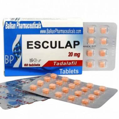 Esculap Тадалафил Эскулап 20 мг, 20 таблеток, Balkan Pharmaceuticals в Уральске